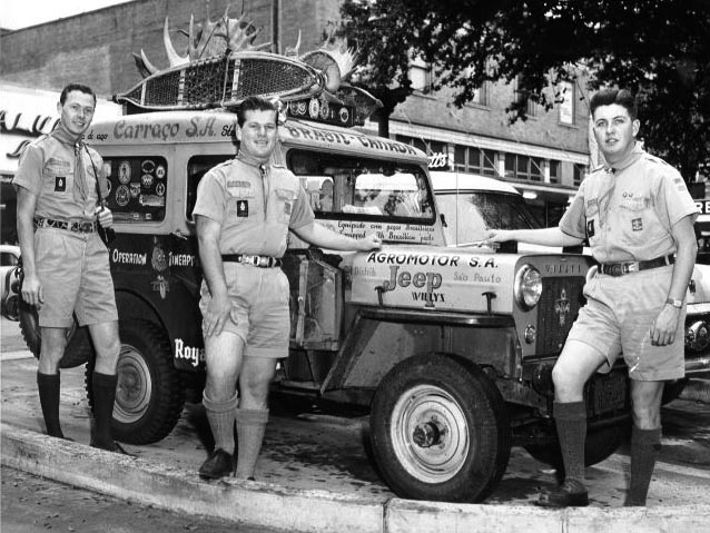 The Scouts by their jeep
