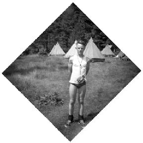 A Scout in camp.