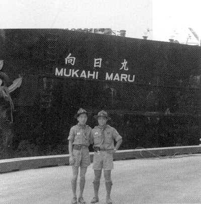 Two Japanese Scouts next to the Mukahi Maru
