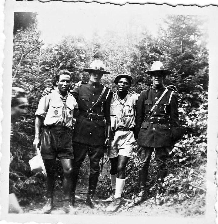 Kouassi with members of the RCMP
