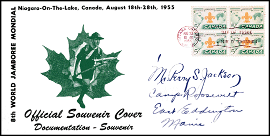 WJ'55 First Day Cover
